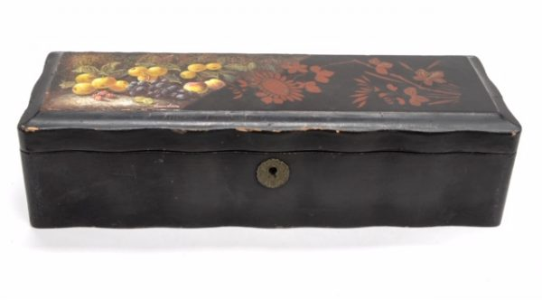 Japanese Black Lacquered Glove Box